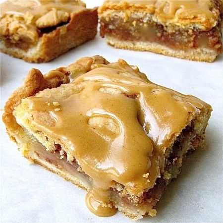 13 Apple recipes including this Caramel Apple Slab-  it's like apple pie but meant for when you need to serve a lot of people- perfect for thanksgiving dinner!