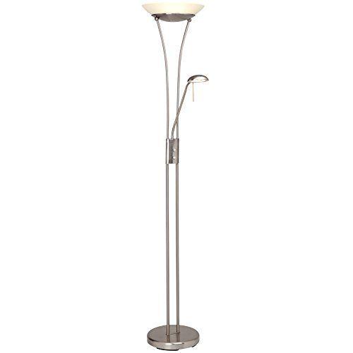http://ift.tt/1YqNKco Balthasar 18W LED Deckenfluter mit 1600 Lumen inkl. 45W LED Lesearm mit 380 Lumen 3000K warmweiß Dimmer Metall / Glas weiß @feproductooli#