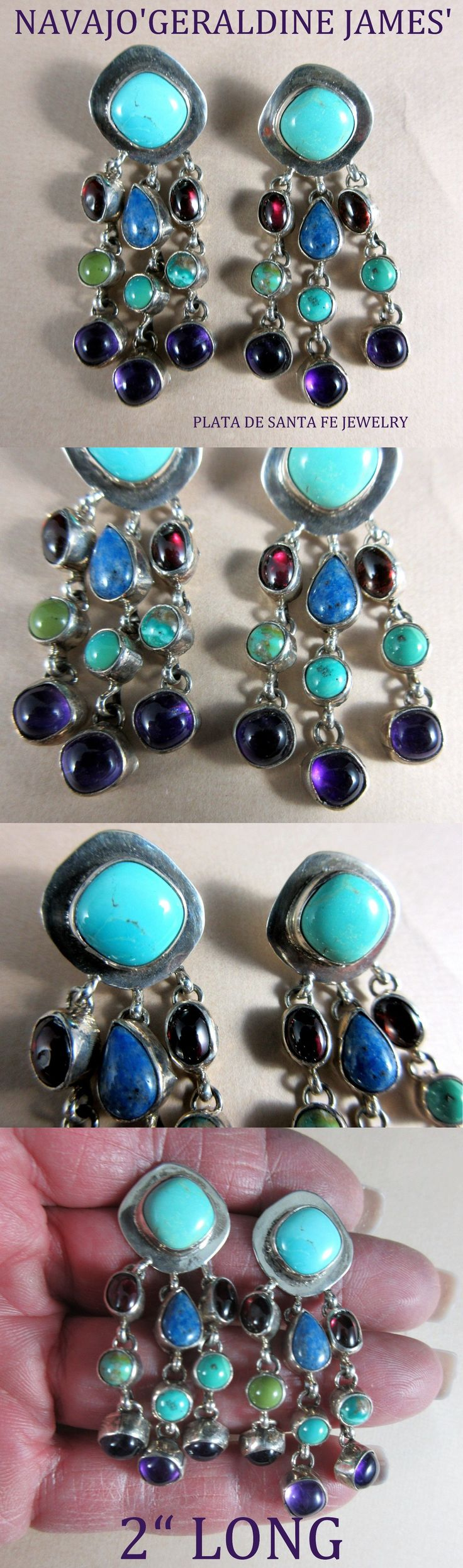 Earrings 98497: Navajo~Geraldine James~Turquoise~Semi Precious~Contemporary~925 Earrings -> BUY IT NOW ONLY: $195 on eBay!