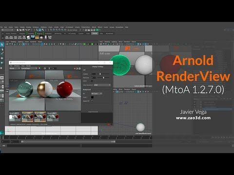 Arnold RenderView para Maya (MtoA 1.2.7.0) - YouTube