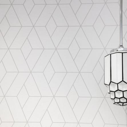 Art Deco Inspired Warm Grey Wallpaper