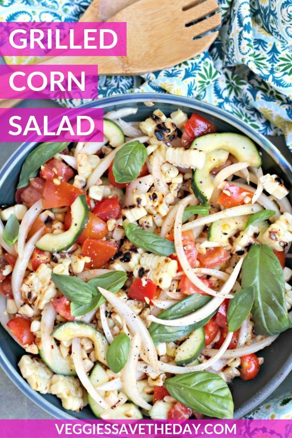 Grilled Corn Salad With Tomatoes And Cucumber