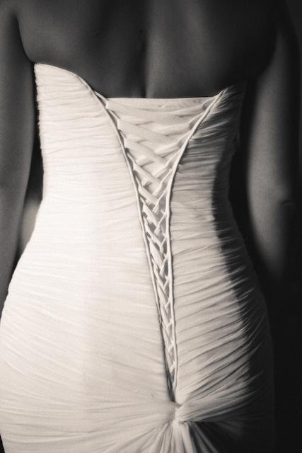 Mermaid corset back: Maggie Sottero. How beautiful!!