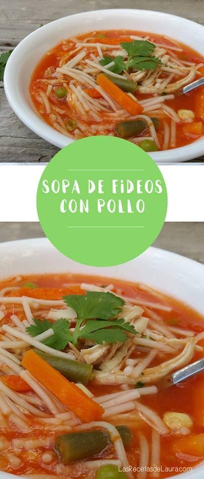Receta Saludable Facil y rapida para toda la familia SOPA DE FIDEO MEXICANA