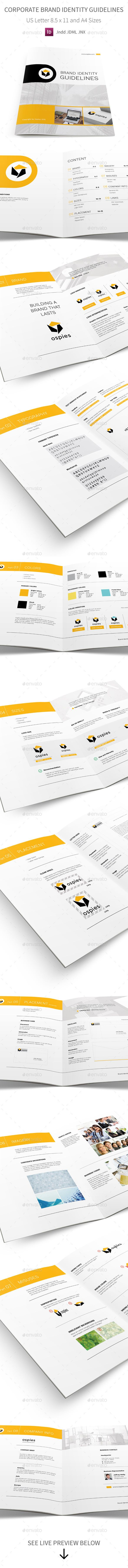 Corporate Brand Identity Guidelines Template #design Download: http://graphicriver.net/item/corporate-brand-identity-guidelines/13637181?ref=ksioks
