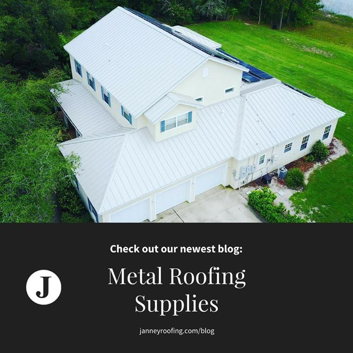 Check out our newest blog! Metal Roofing Supplies and where to find them! #orlando #metalroof #roof