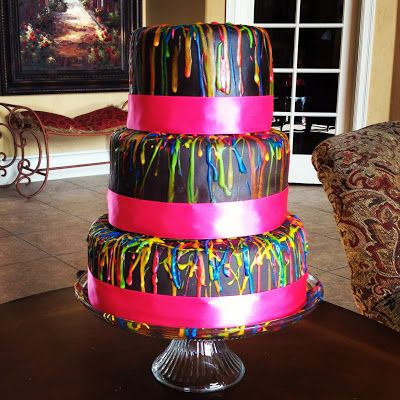 Black Light Birthday Cake Ideas