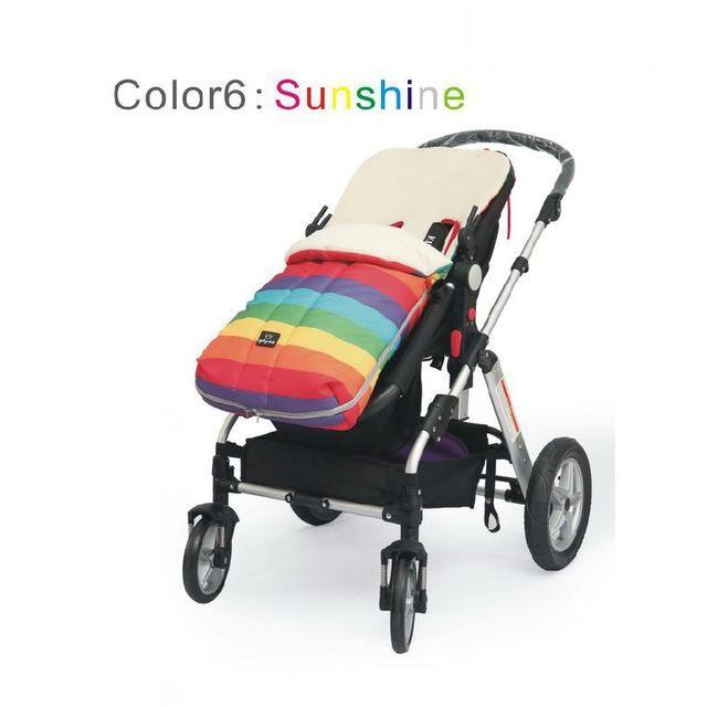 Rainbow Kids Pram Sleepsacks Top Quality Baby Cart Set Footmuff Baby Stroller Sleeping Bag Warm Winter Envelope For Pram