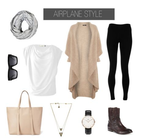 Easy Airport Style Essentials. What to wear for women when traveling, and on the plane. Flying outfit for women. Women's travel outfit ideas.