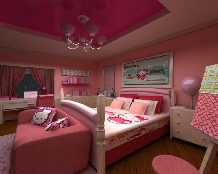 there are a lot of mixtures for cute hello kitty bedroom decoration to be found