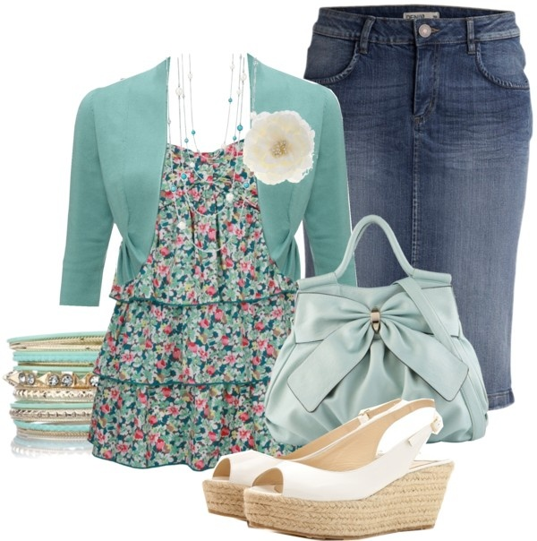 """Untitled #292"" by sapphire-angel ❤ liked on Polyvore.... Sooo cute! A little mix of casual and dressy!"