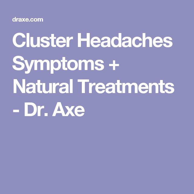 Cluster Headaches Symptoms + Natural Treatments - Dr. Axe