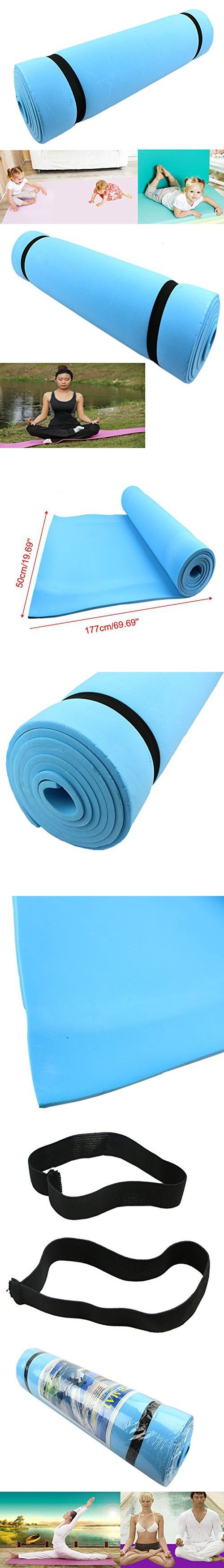 Fanshop® Blue Eco-friendly Dampproof Sleeping Mattress Mat Exercise EVA Foam Yoga Pad