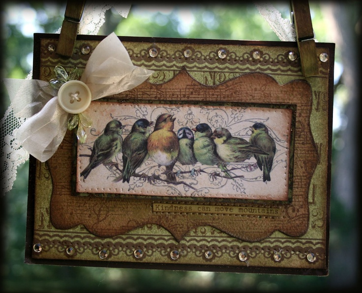Love all of the different colored birds: Crafty Secret, Cards Ideas, Birds Cards, Papercraft, Rustic Charms, Art, Moving Mountain, Cards Birds, Paper Crafts
