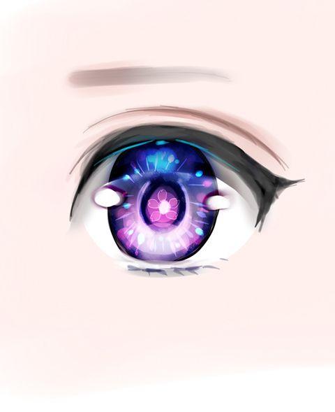 Anime eye example