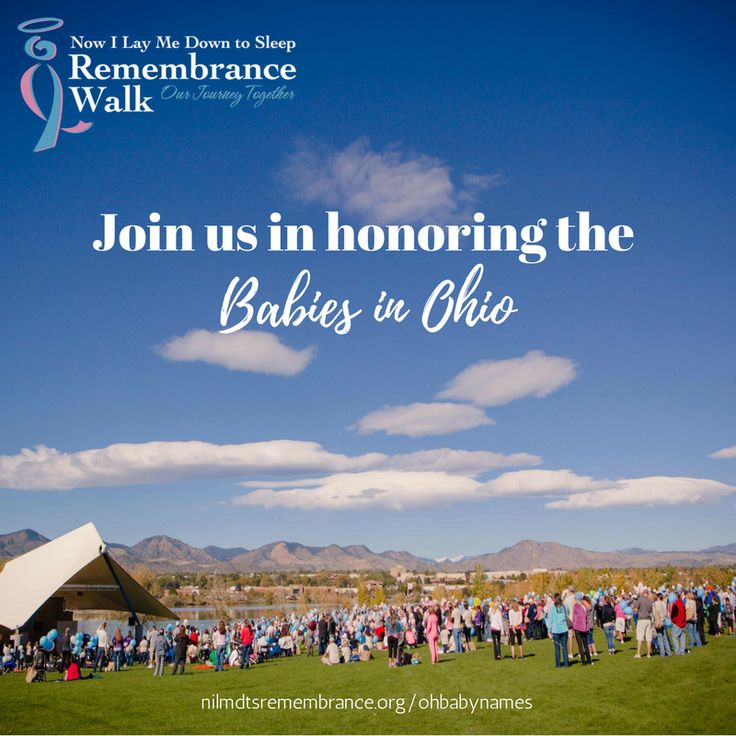 This morning is the Now I Lay Me Down to Sleep Remembrance Walk in Columbus, Ohio. Join us in honoring all of the babies in Ohio that are being remembered today! You can view the list on our website  http://nilmdtsremembrance.org/2017ohbabies/  #nilmdts #nilmdtswalk