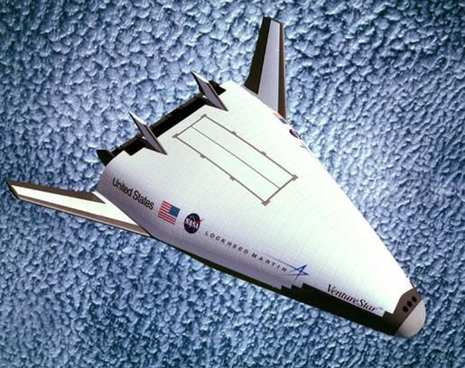 The launch of a full-scale demonstration vehicle on the space shuttle had been scheduled when NASA, reeling from space station budget overruns, abruptly canceled the program in 2002. Description from news.discovery.com. I searched for this on bing.com/images