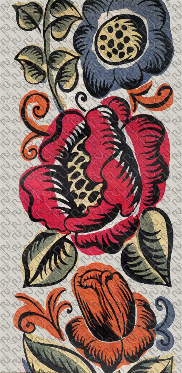 (9167) 20's flat graphic flower – anni 20 fiore piatto grafico (preview150dpi) – Imagesfashiontextiles