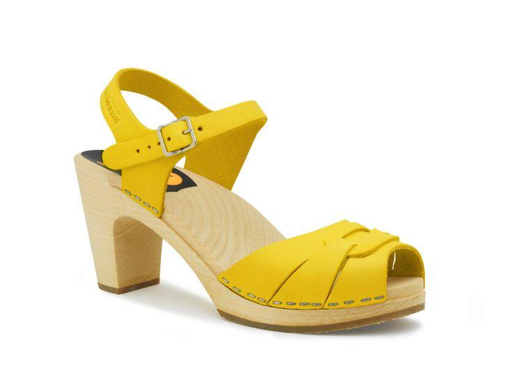 $150 Swedish Hasbeens - Peep toe Super High