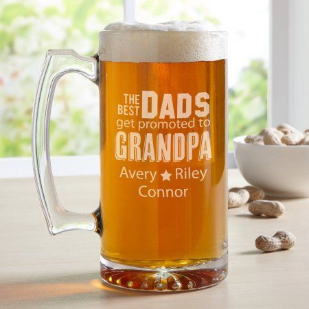 0ca81a830 Koken en tafelen 12oz Beer Mug Stein Glass Only The Best Dads Get Promoted  To Pop Pop