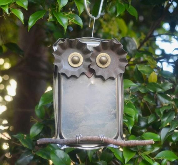 Found Object Owl Metal Sculpture | ... sculpture owls from found metal objects. His project is Focus on Art