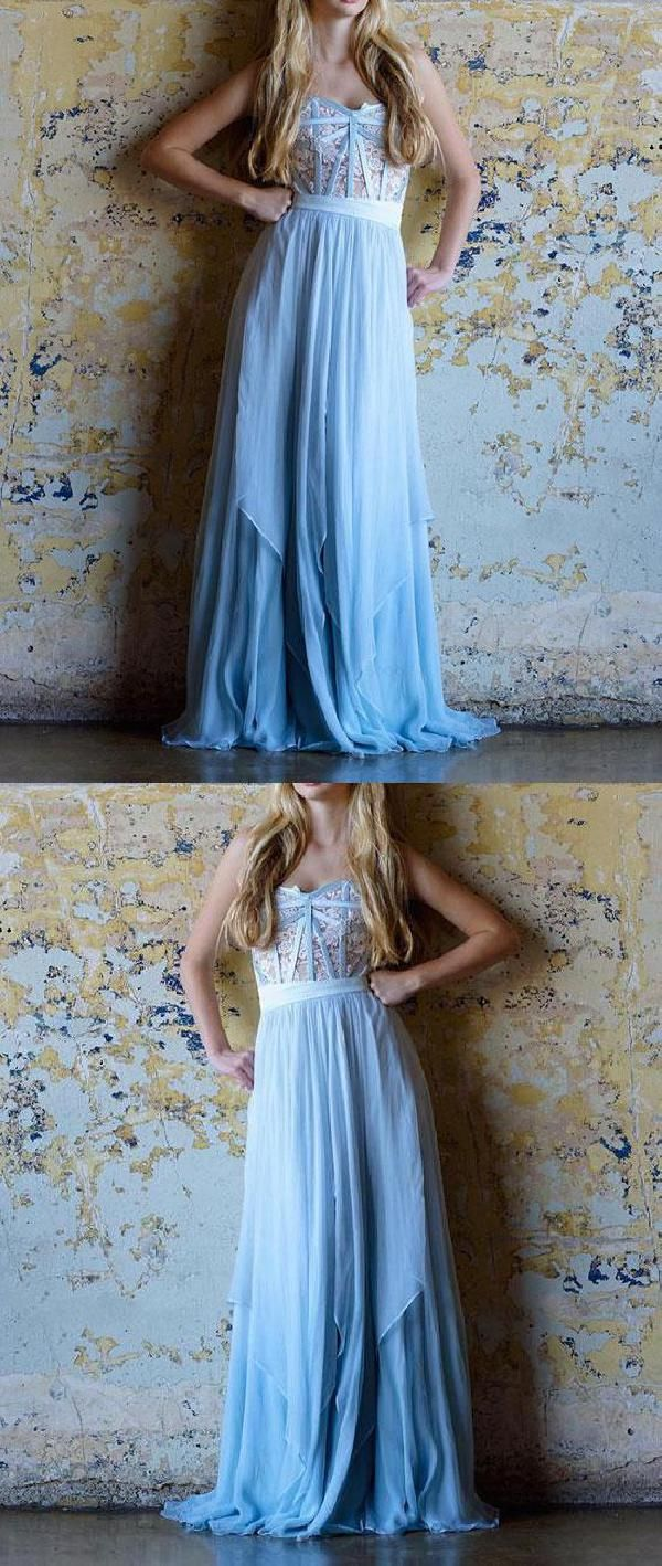 Cheap dazzling bridesmaid dresses chiffon blue bridesmaid dresses