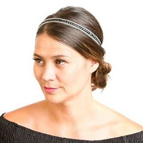 Elevate your tresses with the La-ta-da™ Beaded Chain-Link Head Wrap. Casually beautiful to freshen up an everyday look, add this chic piece to your hair accessories collection.<br><br>With each item purchased, La-ta-da is partnering with Girl Up, the United Nations Foundation's adolescent girl campaign, to provide leadership development training to empower girls to change the world.*<br><br>*For more info on La-ta-da's donation program, please visit ww...