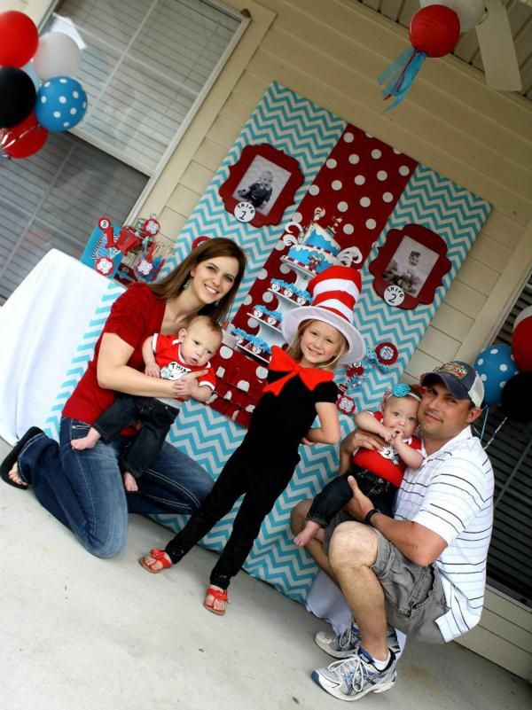 Thing One Thing Two Dr Seuss Twins 1st Birthday Party Planning Ideas