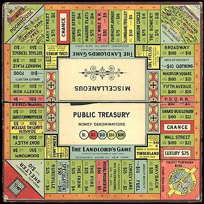 The Landlord's Game patented by Lizzie Magie in 1904 slowly morphed into Monopoly.