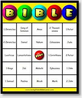 Easy, Printable Books of the Bible Bingo Game