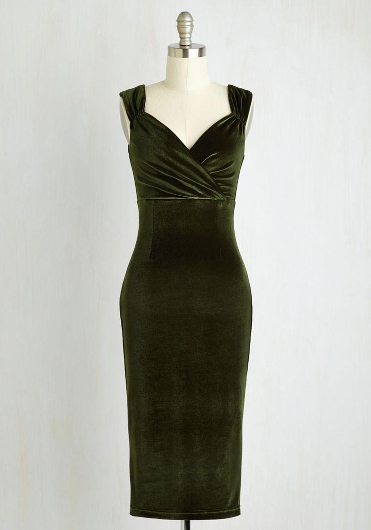 оливковое вельветовое платье