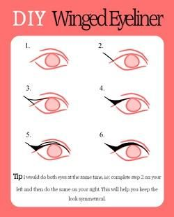 How to create the winged liner look.