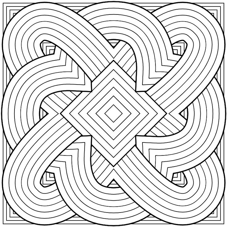 For Your Coloring Pleasure Geometric PagesPattern