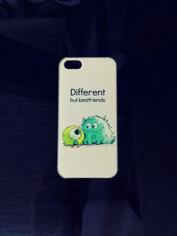 Looking for a cute case for your phone? Get these cute monster university different but best friends case now!    - Hard PC material  - Designed