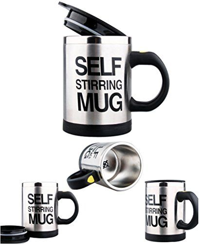 Green House Self Stirring Coffee Mug Auto Mixing Tea Cup Novelty Mug >>> Click image for more details. (Note:Amazon affiliate link)