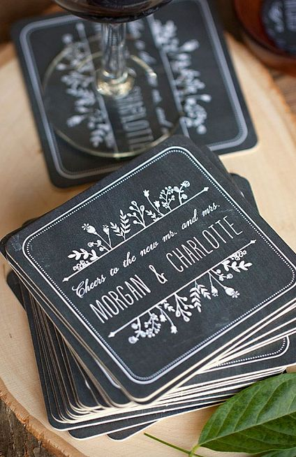 Customize your #wedding coasters for that extra special touch. #MarriedInLV