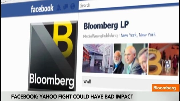 Bloomberg's Scarlet Fu, Stephanie Ruhle and Adam Johnson report that Facebook, the social-networking service that's planning an initial public offering, said a patent dispute with Yahoo! could have a material impact on its business
