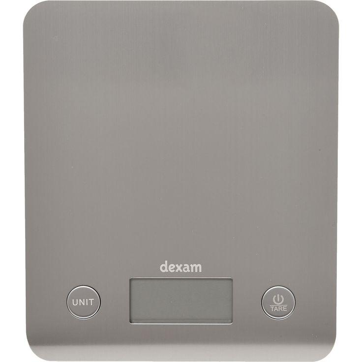 """Dexam"" Silver Tone Electronic Kitchen Scales - TK Maxx"