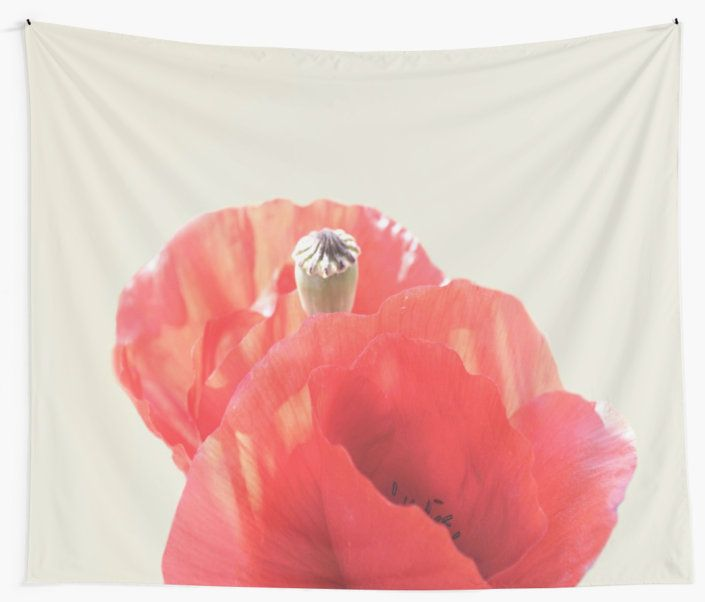 'Poppies' Wall Tapestry by ARTbyJWP from Redbubble #artprints #tapestries #walltapestry #walldeco #poppies #floral  ---     Abstract close-up of beautiful red poppies. • Also buy this artwork on home decor, apparel, stickers, and more.
