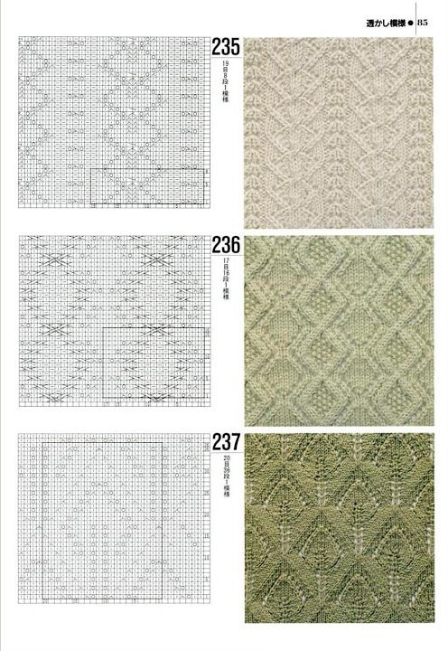 Ssk Knitting Diagram : Images about knit stitch patterns and misc on