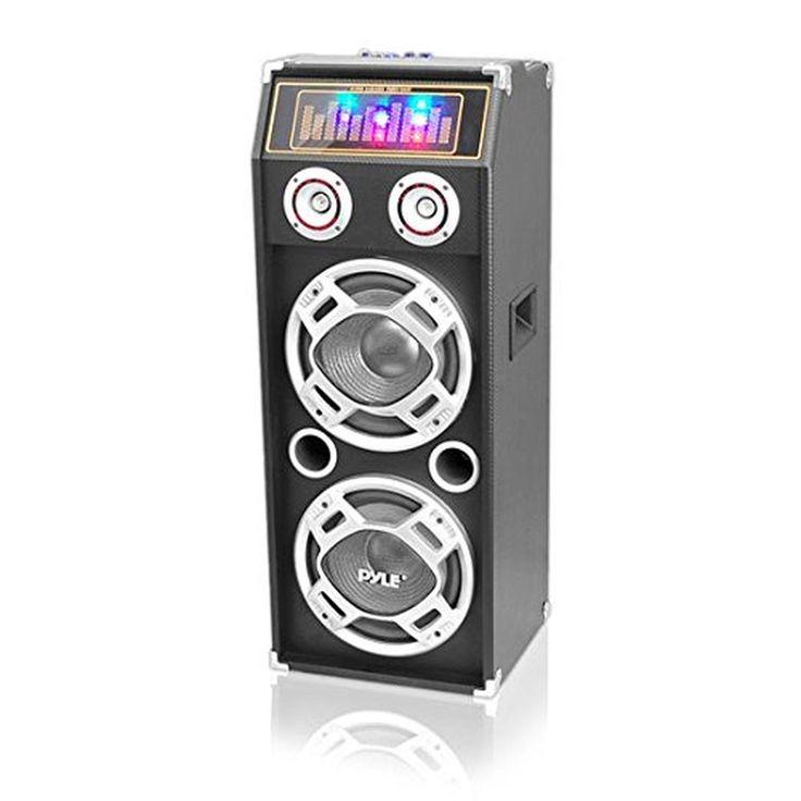 "PYLE PSUFM1030P 1000-Watt Passive DJ Speaker System with 10"" Subwoofers Flash..."