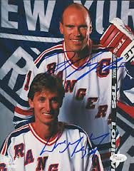 Wayne Gretzky and Mark Messier.    Edmonton Oilers
