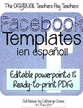 spanish facebook project print and go template spanish learning