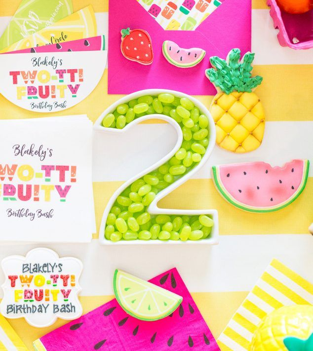 Two-tti Fruity Themed 2nd Birthday Party