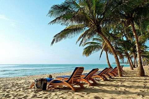 Kenia, Diani Beach: Hotelli Amani Tiwi Beach Resortin oma ranta. www.finnmatkat.fi #finnmatkat