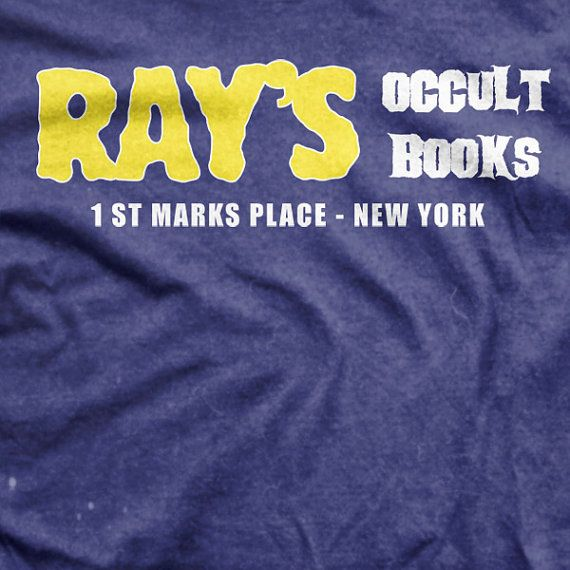 Ghostbusters II Ray's Occult Books Movie Tshirt by MCIndustries, / Sooooo cooool! That's my old hood to!