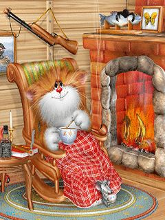 CAT & MOUSE IN A COZY CABIN