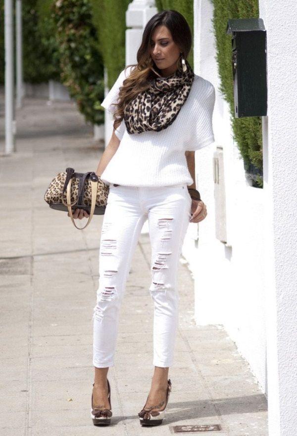Ideas traje perfecto con pantalones vaqueros blancos (33)