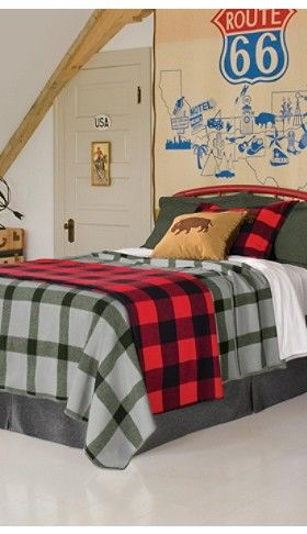 pendleton 174 classic wool comforter in white bed 15 best family room images on buffalo plaid 812