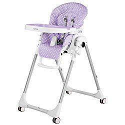 Peg Perego Prima Pappa Zero 3 High Chair, Baby Dot Lilac